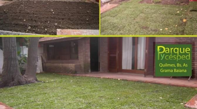Colocación de grama bahiana – Quilmes